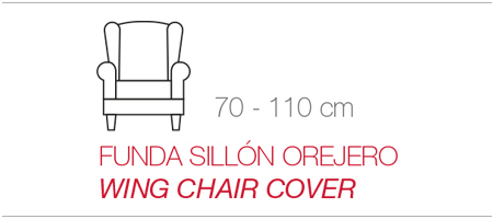 Funda bielástica para sillón orejero