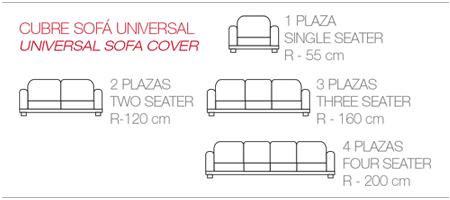 fundas elásticas para todos los tamaños de sofás