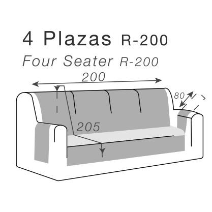 medidas cubre sofás para sofás de 4 plazas