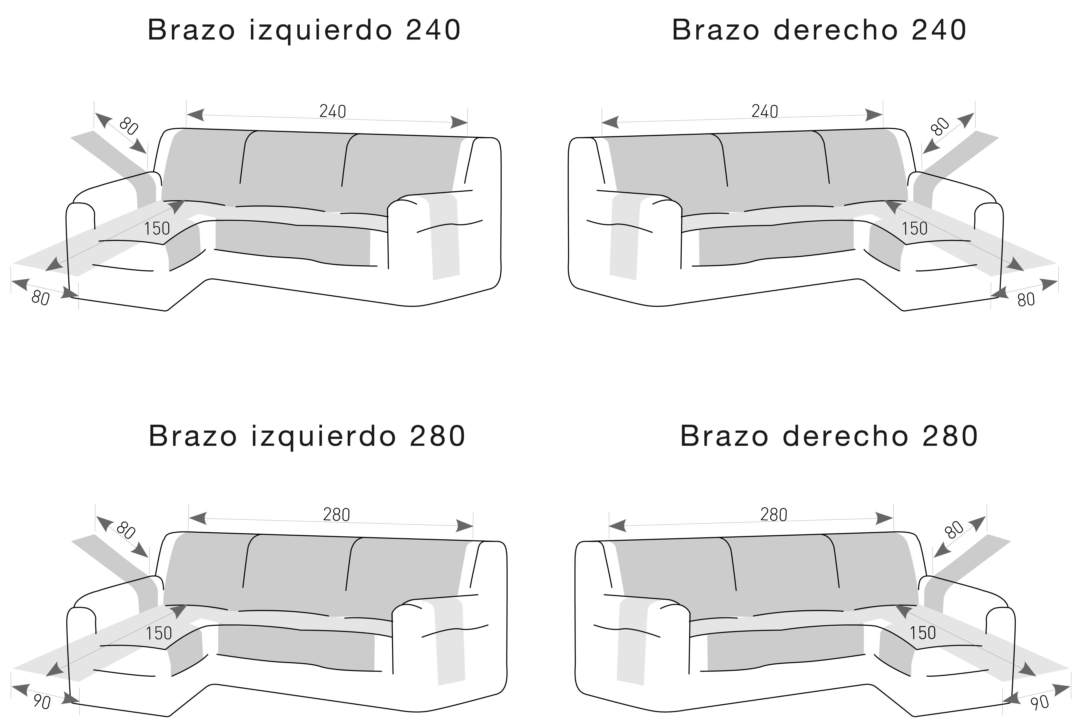 Medidas cubres sofás para Chiase Longues