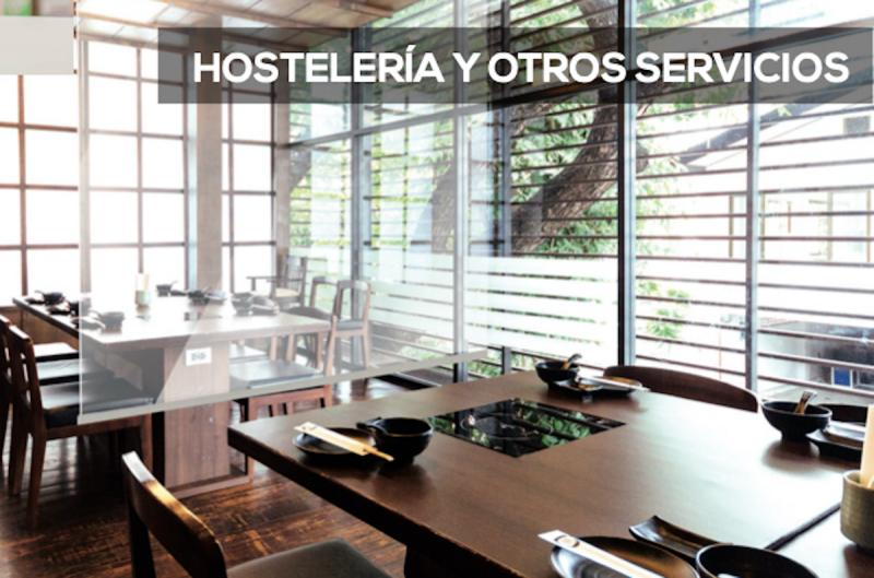 Organización de mesas en Hostelería con los estores transparentes anti virus coronavirus