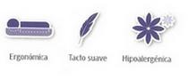 Características de la almohada con tacto pluma de neublanc