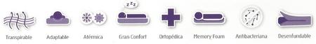 Características Almohada Viscoelástica transpirable de neublanc